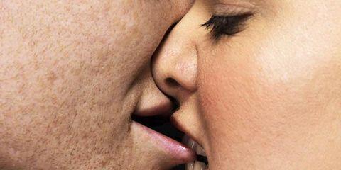 Lip, Cheek, Skin, Chin, Forehead, Eyebrow, Eyelash, Jaw, Interaction, Organ,