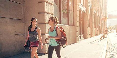 Human leg, Summer, Shorts, Street fashion, Street, Luggage and bags, Bag, Travel, Pedestrian, Sunlight,