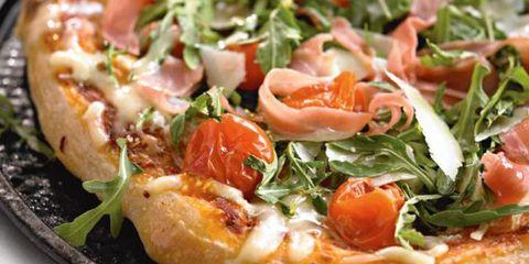 Food, Cuisine, Ingredient, Dish, Finger food, Pizza, Baked goods, Leaf vegetable, Plate, Recipe,