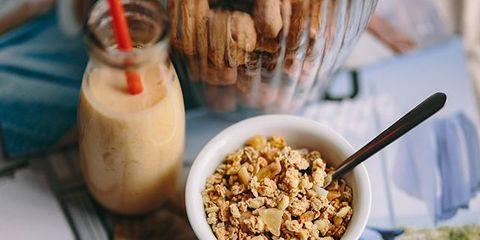Food, Cuisine, Dish, Meal, Breakfast cereal, Granola, Breakfast, Ingredient, Snack, Vegetarian food,