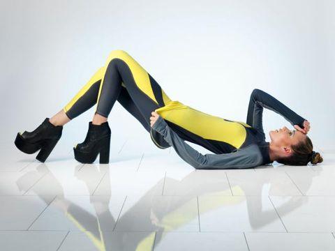 Human leg, Joint, Knee, Elbow, Thigh, High heels, Latex, Waist, Spandex, Model,
