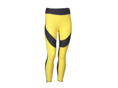 Yellow, Waist, Knee, Tights, Black, Thigh, Active pants, Leggings, Spandex, Briefs,