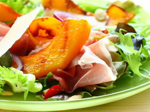 Food, Ingredient, Leaf vegetable, Salad, Vegetable, Cuisine, Prosciutto, Produce, Garnish, Carrot,