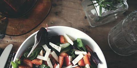 Dishware, Food, Cuisine, Meal, Plate, Kitchen utensil, Ingredient, Serveware, Vegetable, Drinking water,