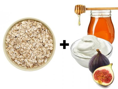 Ingredient, Food, Produce, Natural foods, Oat, Breakfast, Rolled oats, Accessory fruit, Food grain, Common fig,