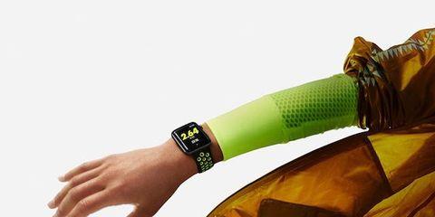Yellow, Wrist, Amber, Watch, Analog watch, Strap, Bracelet, Thumb, Gesture, Watch accessory,