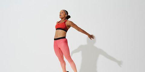 Human leg, Joint, Knee, Waist, Active pants, People in nature, Thigh, Running, Ice skate, Abdomen,