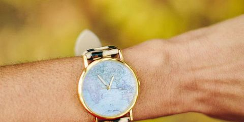 Analog watch, Watch, Wrist, Fashion accessory, Yellow, Jewellery, Turquoise, Hand, Watch accessory, Finger,
