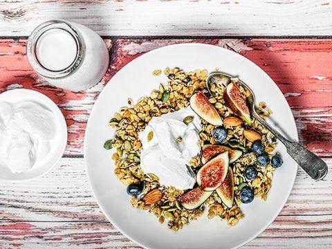 Food, Dish, Cuisine, Meal, Ingredient, Breakfast, Vegetarian food, Granola, Recipe, Produce,