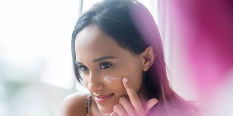 Lip, Eyebrow, Eyelash, Happy, Purple, Black hair, Tooth, Magenta, Makeover, Portrait photography,