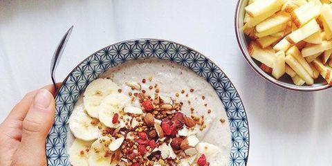 Dish, Food, Cuisine, Ingredient, Porridge, Breakfast, Meal, Produce, Breakfast cereal, Vegetarian food,