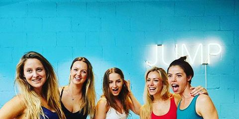 Facial expression, Fun, Friendship, Youth, Leisure, Smile, Dance, Event, Sports bra, Undergarment,