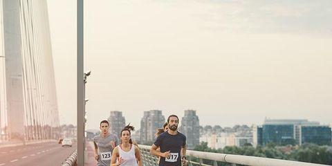 Running, Atmospheric phenomenon, Recreation, Long-distance running, Half marathon, Marathon, Bridge, Exercise, Individual sports, Jogging,
