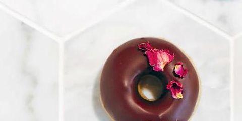 Doughnut, Chocolate, Food, Pastry, Fashion accessory,