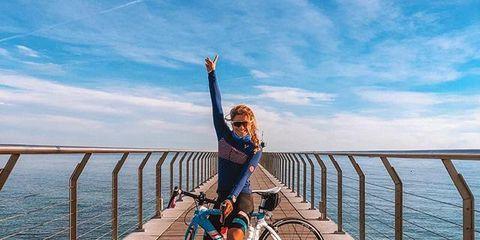 Bicycle, Water, Cycling, Pier, Vehicle, Boardwalk, Sky, Recreation, Bridge, Walkway,