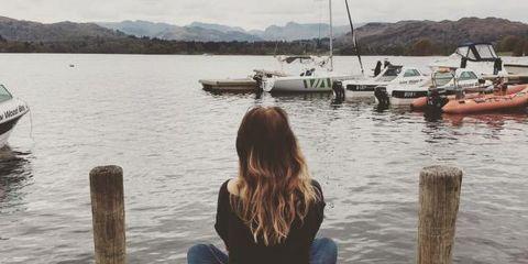 Water, Dock, Sitting, Sky, Tree, Pier, Sea, Calm, Wood, Summer,