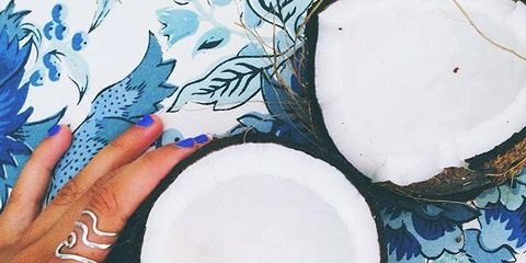 Blue, Finger, Dishware, Paint, Art, Nail, Serveware, Art paint, Illustration, Membranophone,