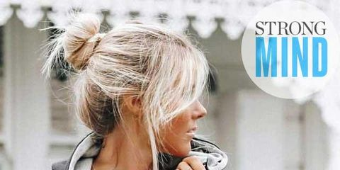 Hair, Hairstyle, Blond, Ear, Long hair, Neck, Hair coloring, Brown hair,