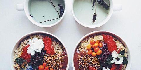 Dishware, Red, Serveware, Carmine, Ingredient, Circle, Produce, Bowl, Fruit, Still life photography,