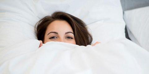 White, Face, Skin, Beauty, Bed sheet, Bedding, Nose, Lip, Eye, Sleep,