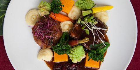 Dish, Food, Cuisine, Rinderbraten, Ingredient, Sauerbraten, Venison, Produce, Meat, À la carte food,
