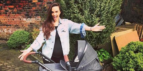 Baby carriage, Product, Baby Products, Outerwear, Vehicle, Plant, Diaper bag,