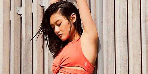 Abdomen, Clothing, Navel, Photo shoot, Stomach, Beauty, Shoulder, Waist, Model, Trunk,