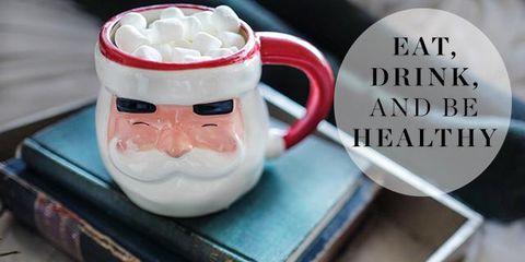 Coffee cup, Serveware, Mug, Cup, Fictional character, Drinkware, Cup, Tableware, Facial hair, Santa claus,