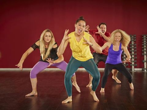 Fun, Entertainment, Performing arts, Social group, Dancer, Barefoot, Physical fitness, Toe, Choreography, Dance,