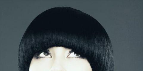 Mouth, Lip, Cheek, Hairstyle, Forehead, Eyebrow, Eyelash, Style, Black hair, Jaw,
