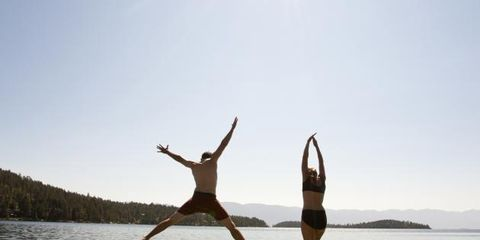 Water, People in nature, Summer, Exercise, Dock, Vacation, Jumping, Lake, Physical fitness, Loch,