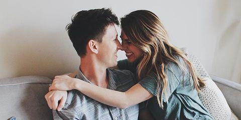 Love, Romance, Interaction, Forehead, Hug, Gesture, Photography, Sitting, Comfort, Happy,