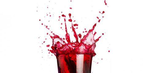 Liquid, Fluid, Glass, Red, Drinkware, Drink, Ingredient, Carmine, Highball glass, Alcoholic beverage,