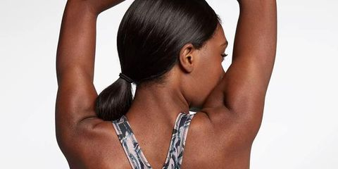 Hair, Shoulder, Arm, Skin, Muscle, Beauty, Hairstyle, Black hair, Neck, Back,