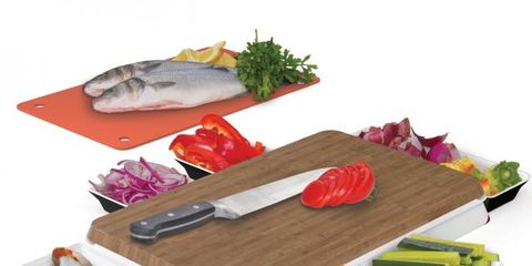 Rectangle, Vegetable, Seafood, Leaf vegetable, Fish, Fish, Cutting board, Kitchen utensil, Whole food, Fish products,