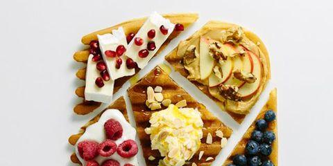 Dish, Food, Cuisine, Ingredient, Breakfast, Waffle, Berry, Dessert, Belgian waffle, Produce,