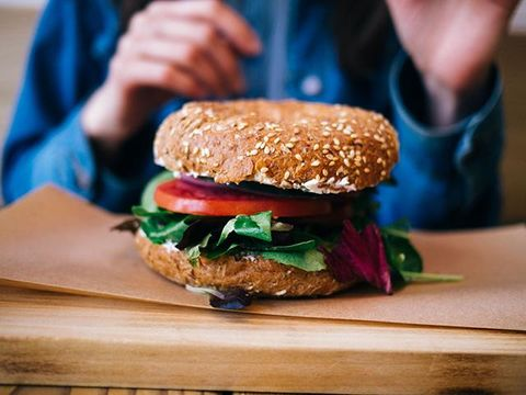 Food, Dish, Hamburger, Veggie burger, Cuisine, Fast food, Junk food, Ingredient, Finger food, Patty,