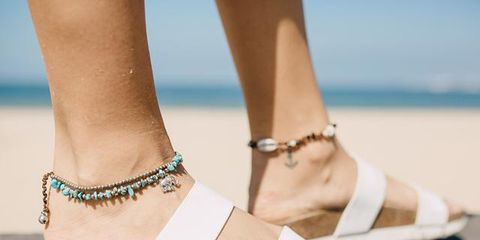 Footwear, Shoe, Sandal, Ankle, Beige, Leg, Fashion, Foot, Fashion accessory, Wedge,