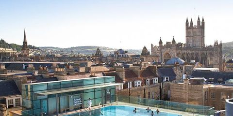 Swimming pool, Building, Roof, Town, Leisure, Architecture, Real estate, Vacation, City, Thermae,