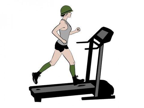Exercise machine, Human leg, Elbow, Exercise equipment, Knee, Wrist, Physical fitness, Treadmill, Exercise, Parallel,
