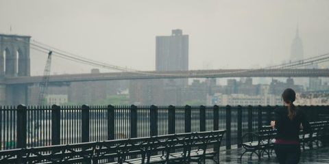 Water, Atmospheric phenomenon, Sky, Urban area, Morning, Iron, Bridge, Rain, Reflection, Pier,
