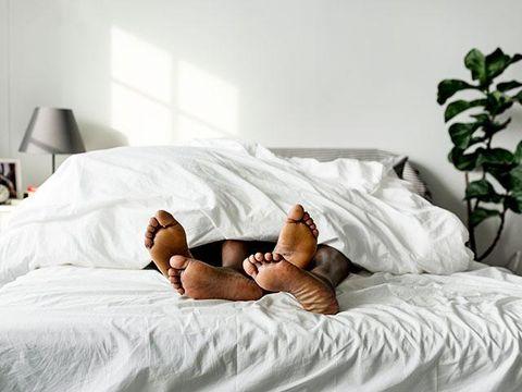 Bed, Mattress, Comfort, Bedroom, Furniture, Bed sheet, Room, Leg, Bedding, Textile,