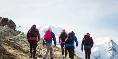 Mountainous landforms, Mountain, Adventure, Mountaineering, Mountaineer, Hiking, Outdoor recreation, Backpacking, Mountain range, Recreation,