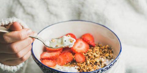 Dish, Food, Cuisine, Meal, Breakfast cereal, Breakfast, Ingredient, Granola, Vegetarian food, Oat,