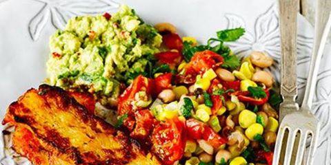 Food, Cuisine, Dish, Ingredient, Meal, Garnish, Produce, Vegetarian food, Vegetable, Recipe,