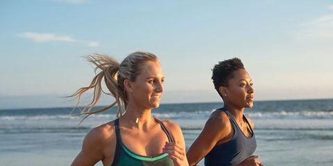 People on beach, Beach, Vacation, Physical fitness, Sports bra, Summer, Fun, Undergarment, Abdomen, Muscle,