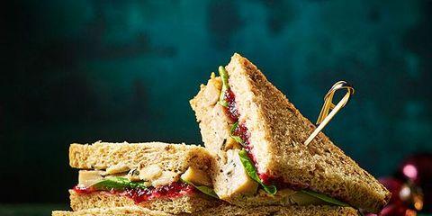 Food, Dish, Cuisine, Ingredient, Sandwich, Finger food, Baked goods, Bacon sandwich, Vegan nutrition, Produce,